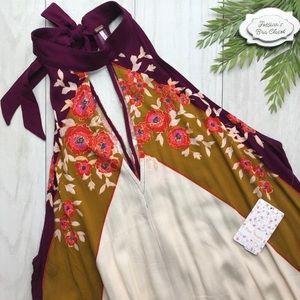•beat of my heart• boho floral satin mini dress
